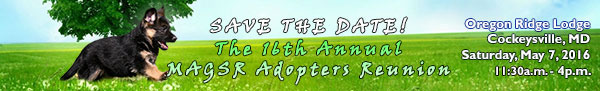 Save the Date, 16th MAGSR Adopters Reunion
