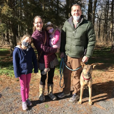 Charlie with his forever family!