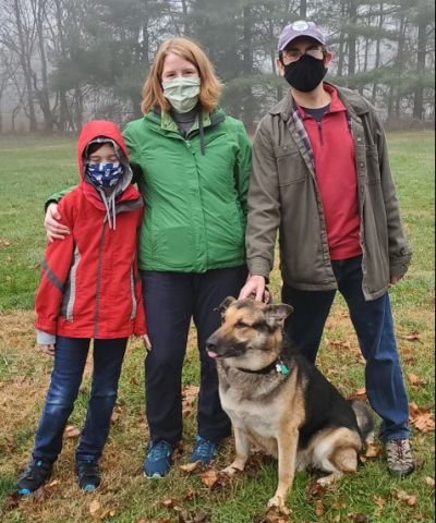 Sherman with his new forever family!